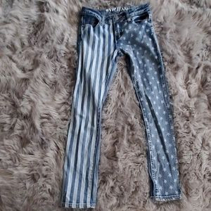 Girls stripes and stars jeans